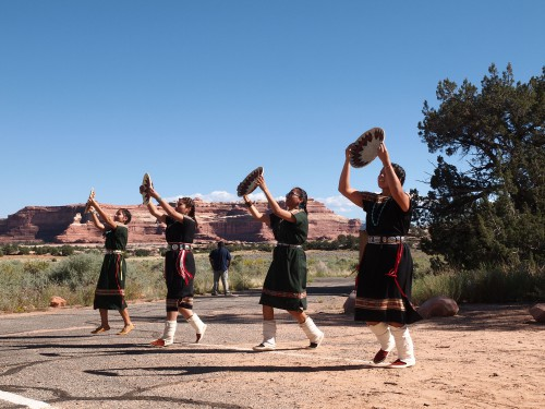 Navajo Basket Dancers opening the 50th celebration